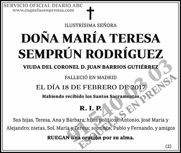 María Teresa Semprún Rodríguez